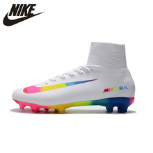 reputable site e95d3 d16e0 Nike MERCURIAL SUPERFLY V AG Soccer Shoes White Superfly High Ankle  Football Boots Outdoor for Men