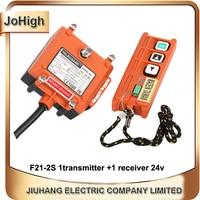 TELECRANE 380v 220v 36v 24v Industrial Wireless Crane Remote Control Switch F21 2S 1 transmitter + 1 receiver