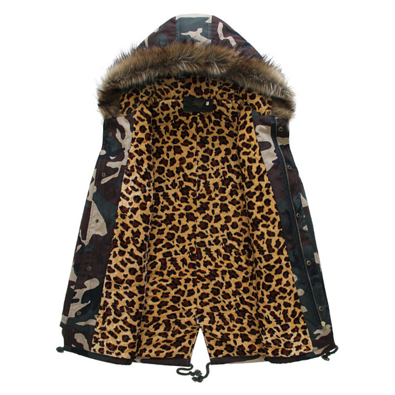Men Winter And Autumn Camouflage Jackets And Coats Boys Military Thicken With Faux Fur Hooded Parkas Men Wt91089