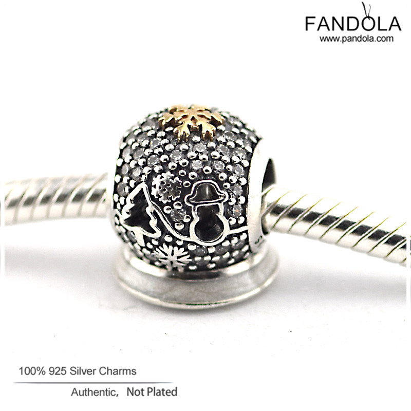 FANDOLA DIY Beads Fit Charms Bracelets 925 Sterling Silver 2015 Black Friday Beads for Jewelry Making Berloques Para Pulsera