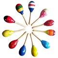 Lindo Colorido Del Bebé Arena Martillo De Juguete Niños Regalo de La Música de Sonido Niño Sonajero Musical WoodenToys Instrumento Musical de Percusión