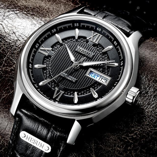 ff5ab6690 سويسرا Nesun اليابان استيراد NH36A التلقائي ساعة يد تعمل بالحركة الرجال  الفاخرة العلامة التجارية الرجال الساعات