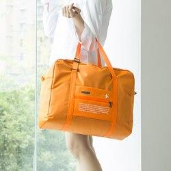 Moda saco de viagem à prova dlarge água grande capacidade viagem duffle feminino saco de dobramento de náilon unisex bolsas de viagem de bagagem por atacado