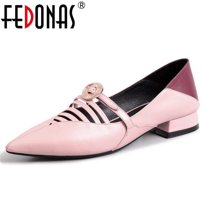 FEDONAS Fashion Sexy Women Genuine Leather Pointed Toe Metal Decoration Party Wedding Shoes Woman Sexy Mary Jane Prom Pumps FEDONAS Fashion Sexy Women Genuine Leather Pointed Toe Metal Decoration Party Wedding Shoes Woman Sexy Mary Jane Prom Pumps