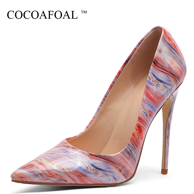 71c3530b00 COCOAFOAL Sexy Stiletto Women's High Heels Shoes Woman Wedding Pumps Plus  Size Fashion Sexy Party Pointed Toe 12 CM Pumps Gray