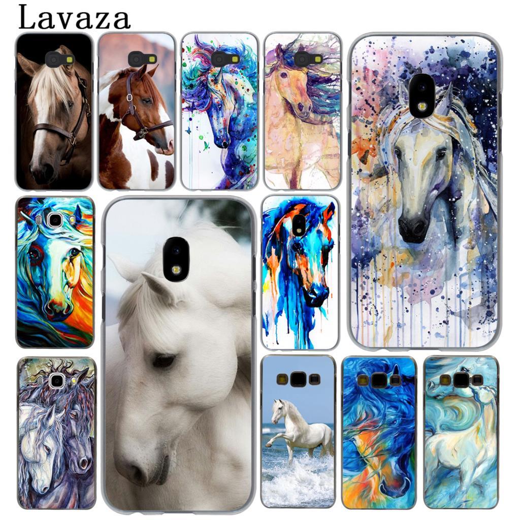 Lavaza Watercolor horse Running Horse Hard Phone Case for Samsung Galaxy J5 J1 J2 J3 J7 2017 2016 2015 2018 J3 J5 Prime Cover