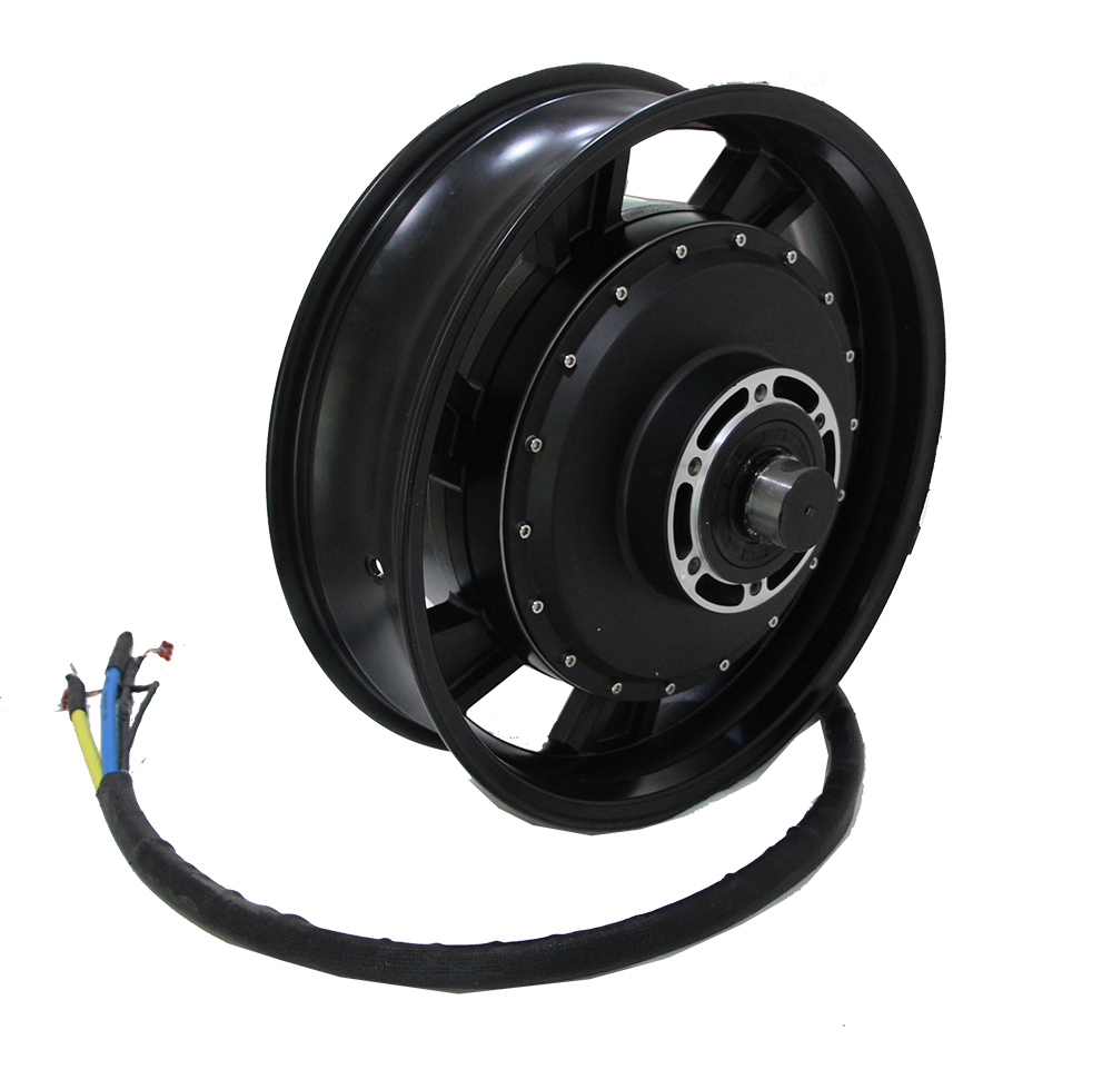 QS 150kph 160kph 14000w 17x4.5inch In Wheel Hub Motor High Speed Version For Electric Motorcycle