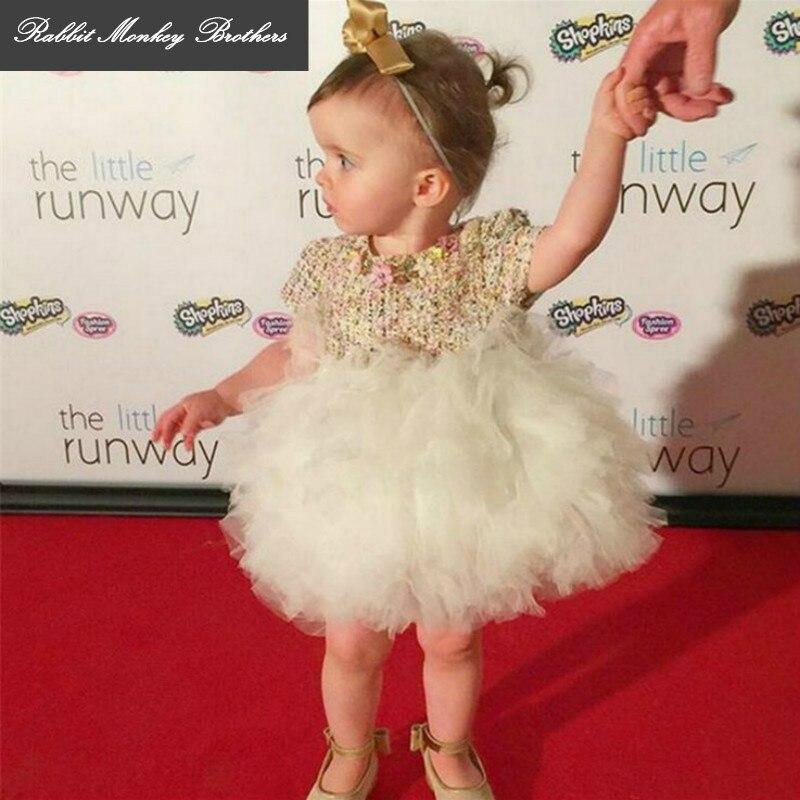 RMBkids spring and autumn luxury quality children's clothing Custom cake puff yarn dress Flower girl Princess wedding dress