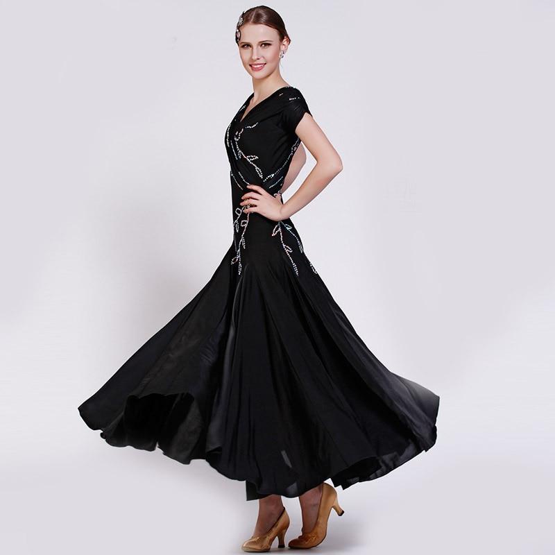 Customized Lady Ballroom Dancing Dress Modern Dance Competition Costume Waltz Tango Foxtrot Quickstep Suit Promotion B-2772