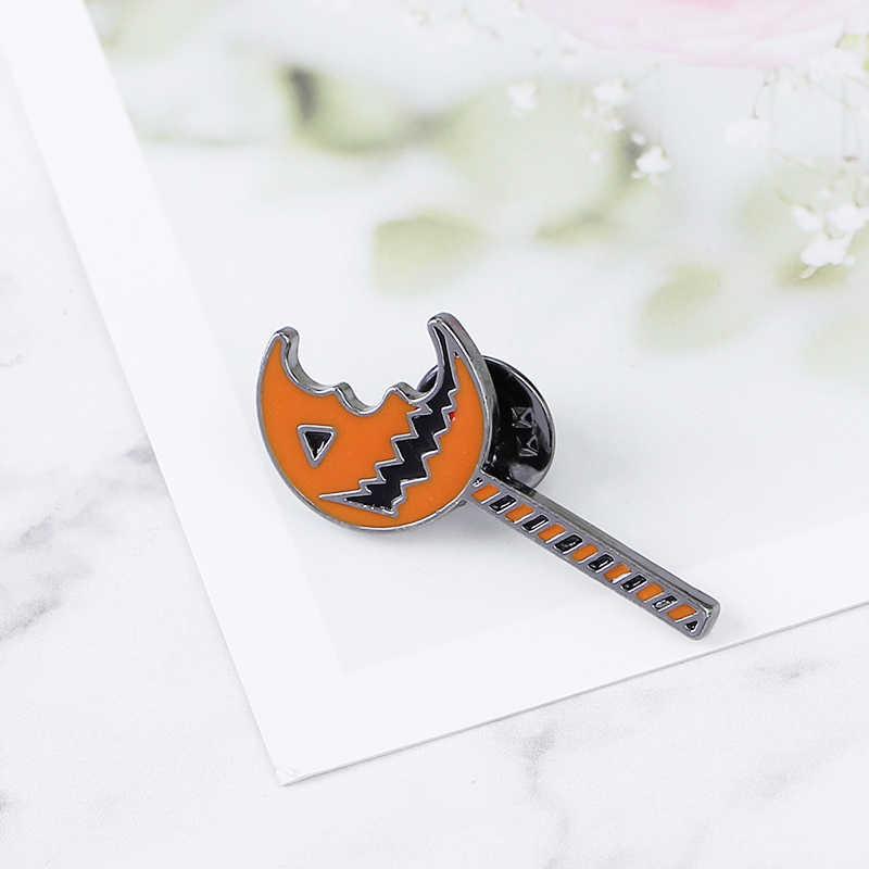 Lanterna de Jack O pins e broches orange monster broche de abóbora abóbora lanterna lapela emblema do pino do esmalte engraçado caçoa o presente do Dia Das Bruxas