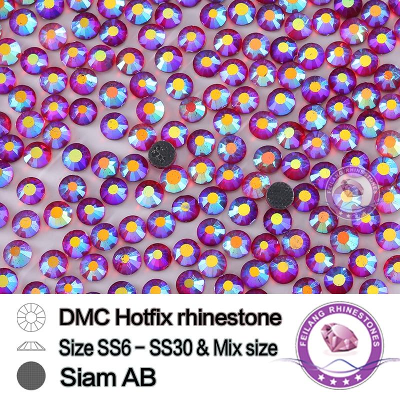 DMC Siam AB cristales rojos Piedras hotfix 10 bruto/bolsa ropa DIY ...