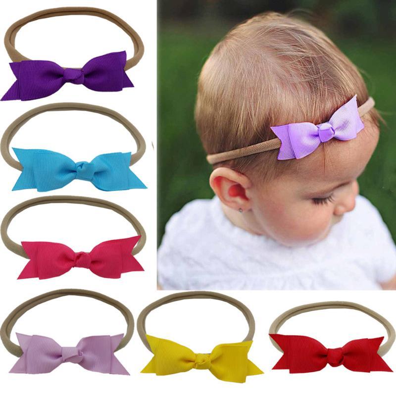 10pcs/set Baby Hair Bands Children Elastic Bowknot Headbands Hair Accessory Newborn Photography Accessories
