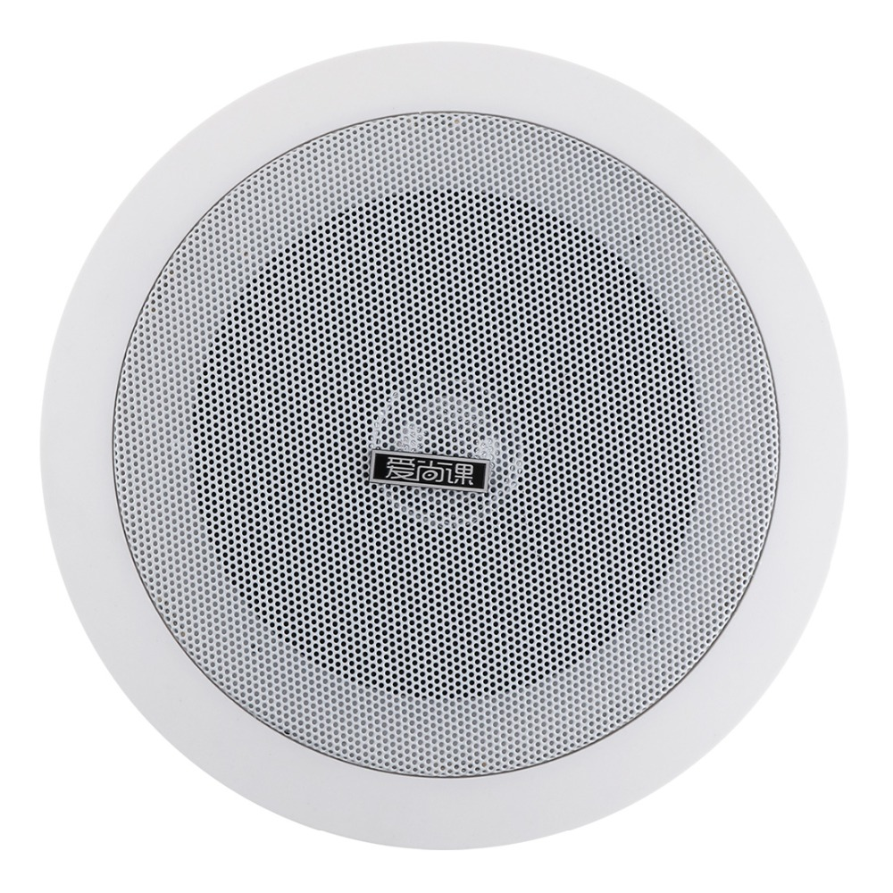 Universal  4.5 Inch 3/6W  Waterproof Household Embedded Radio Ceiling Speaker Public Broadcast Speaker for Home / Supermarket