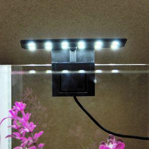 Подходит для 2-6 мм толщины аквариумим светодиодное освещение водное растение растущее освещение аквариума водонепроницаемая лампа с зажимом