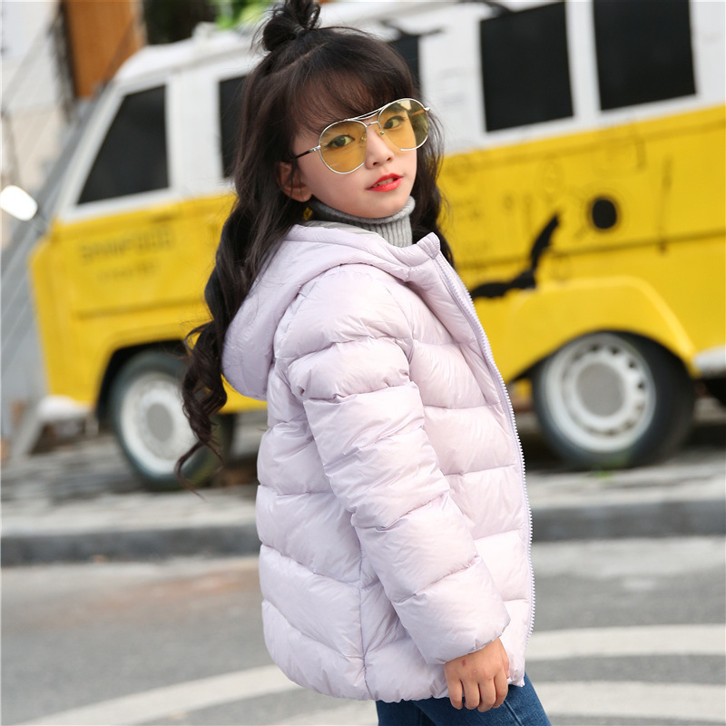 Kids Winter Down Jacket Boys Girls 90% White Duck Thicken Down Coat Children Fashion Hooded Outwear Baby Warm Clothes Suit купить
