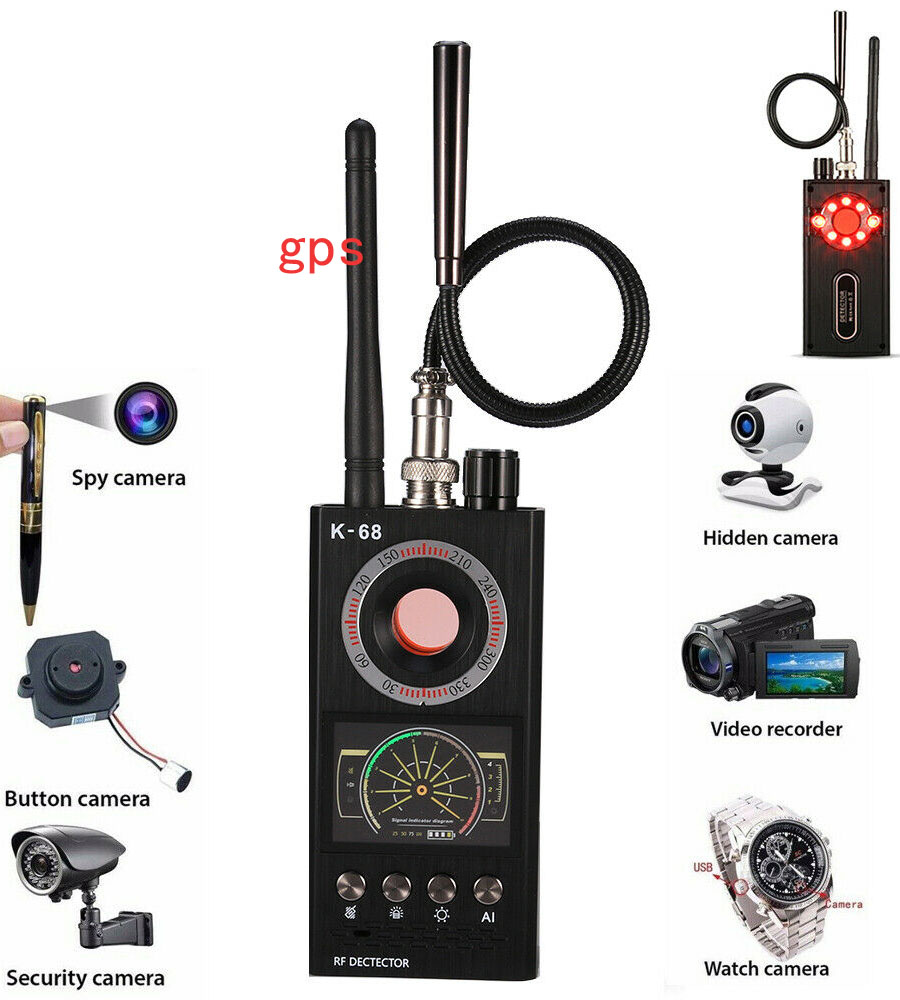 K68 Multi-function Anti-spy Detector Camera GSM Audio Bug Finder GPS Signal Lens RF Tracker
