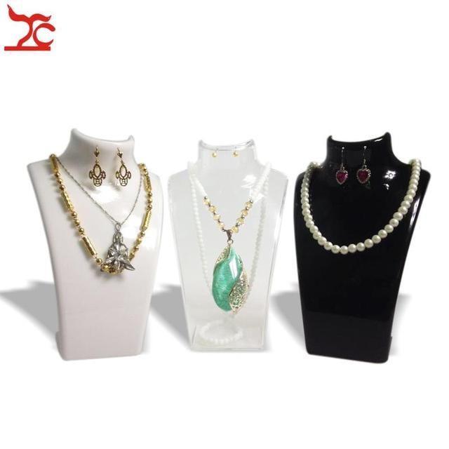 3 x Fashion Jewelry Display Bust Stand Acrylic Jewelry Necklace