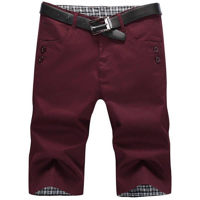 짧은 옴므 여름 캐주얼 솔리드 코튼 반바지 남성 얇은 스트레이트 보드 쇼트 남성 Streetwear 플러스 사이즈 한국어 Korte Broek Mannen