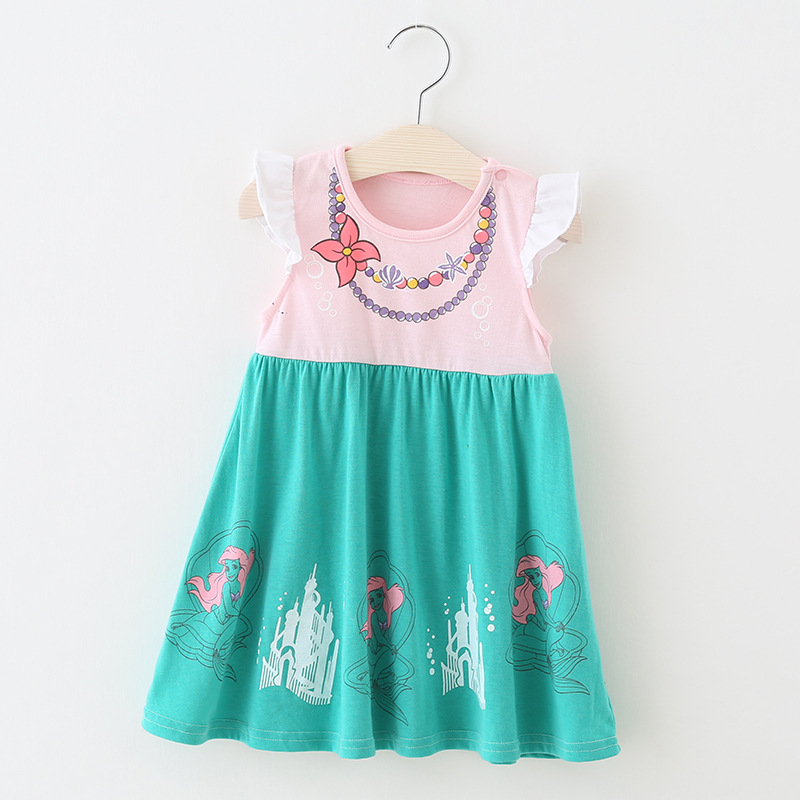 Fancy Fairy Infant Princess Elsa Anna Dress 1 2 3 4 Years Summer Baby Birthday Party Dress Flutter Sleeve Ariel Dress Toddler in Dresses from Mother Kids