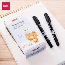 Deli Art Marker Children Drawing Outline Stroke Pen Fine 0.5mm Double Tip Hook Line Pens Students Sketching Stationery Stabilo