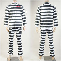 2016 Batman Arkham Asylum Cosplay Costume Prison Clothing