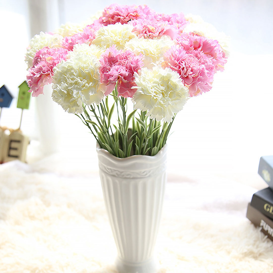 Wedding Favors And Gifts 1PC DIY Fresh Artificial Flowers Carnation ...