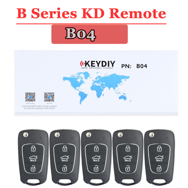 Free Shipping (5pcs/lot) B04 Kd900 Remote 3 Button B Series Remote Key For KD900 Urg200 Machine