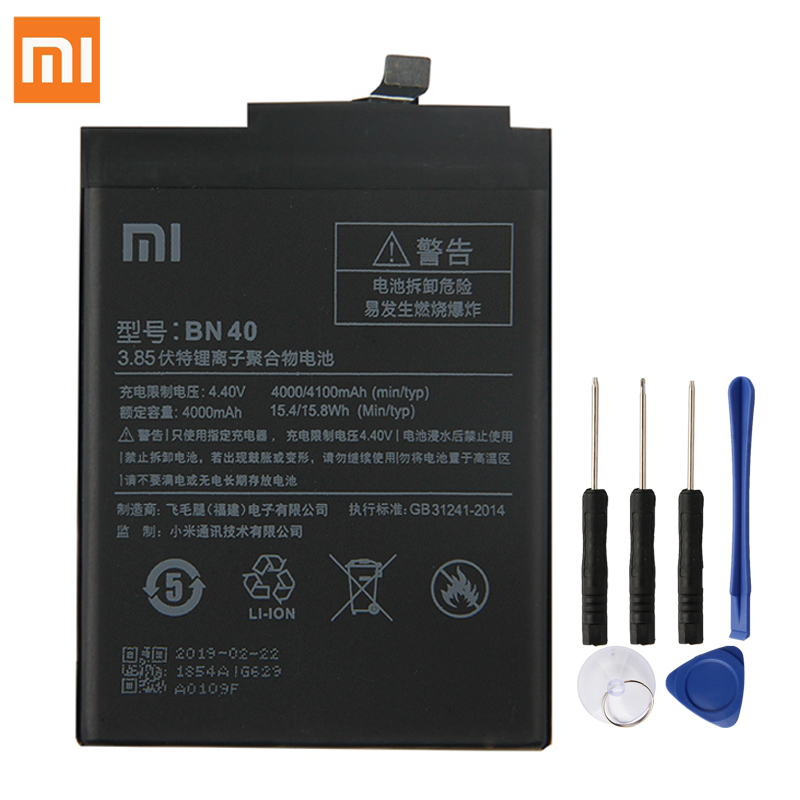 Xiao <font><b>Mi</b></font> Original BN40 <font><b>Battery</b></font> For <font><b>Xiaomi</b></font> Redmi <font><b>4</b></font> Pro Prime 3G RAM 32G ROM Edition Redmi4 Genuine Replacement Phone <font><b>Battery</b></font>+ Tool image