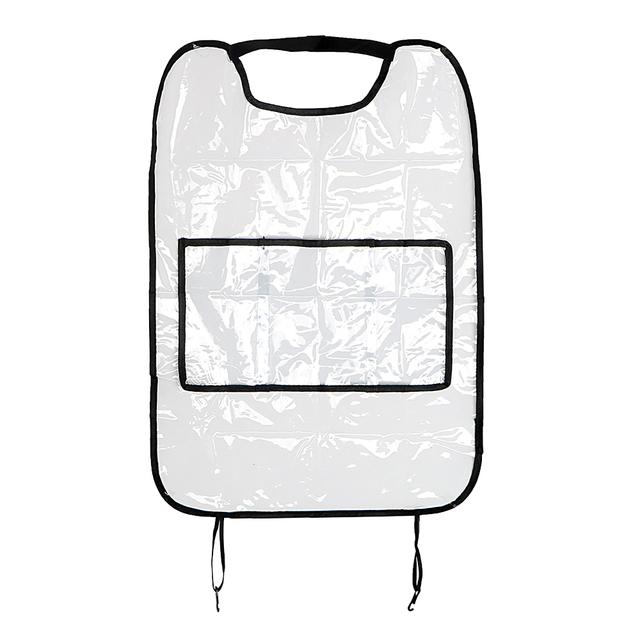 For Children Kick Mud Mats Waterproof Seat Back Protector Interior Accessories With Bag Car Storage Bags Car Seat Covers