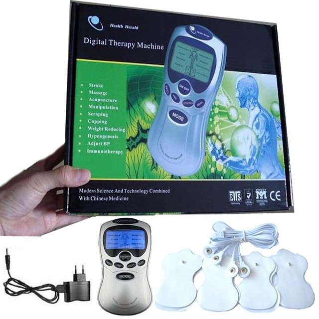 With retail package electric Health care MassageTens Acupuncture neck back foot Digital body Therapy Machine slimming Massager