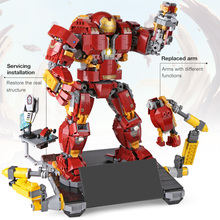 Educativos 07101 Super Heroed 1527 piezas de hierro hombre Hulkbuster Ultron bloques de construcción de juguete modelo Compatible con 76105 Marvel vengadores