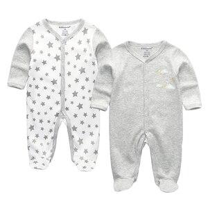 Image 1 - תינוק בני Rompers חמוד קריקטורה 100% כותנה ארוך שרוול תינוק בגדי עבור 0 12 m Infantil יילוד תינוקת בגדי Roupas דה bebe