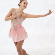 Customization Ice Figure Skating Dress Active Vogue New Brand Black and Red Competition Dresses Custom