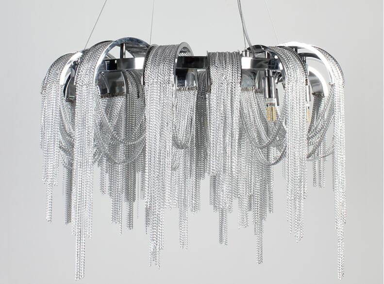 Desain baru LED aluminium chandelier cahaya mewah D650mm Emas / perak - Pencahayaan dalam ruangan - Foto 5