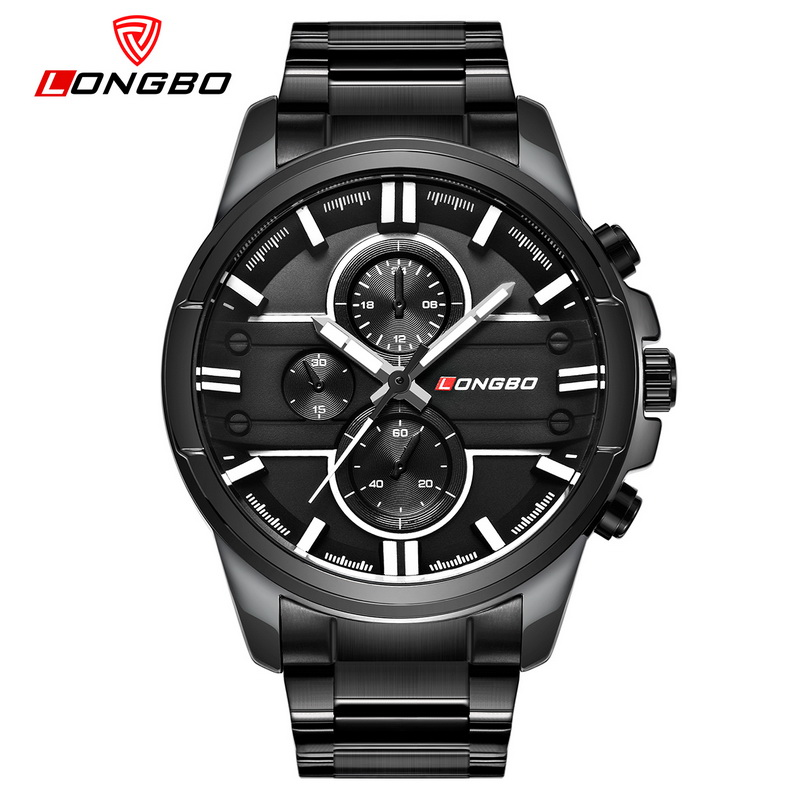 LONGBO 2018 Men Watch Stainless Steel Band Sports Quartz Wristwatches Dial Clock Dynamic Fashion Watches Men Relogio Masculino стоимость