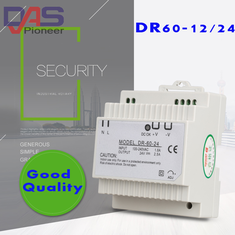 DR-60-12 60W 12V 4.5A Din rail Single Output Switching power supply ac dc converter SMPS dr 240 12 240w 12v 20a din rail single output switching power supply ac dc converter smps