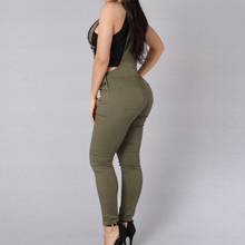 Nueva Llegada de Cintura Alta Pantalones Casuales Mujeres de Gran Tamaño de Los Pantalones de La Correa Femenina Pantalones Pantalones Mujer Sólido Flexible Pp02 AA