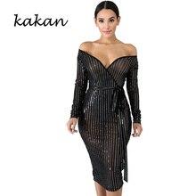 Kakan new womens mesh gauze dress sexy nightclub perspective sequins white black
