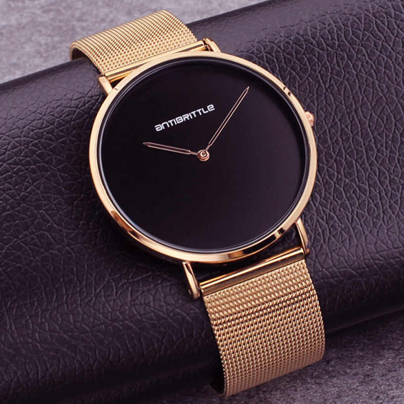 Japan Quartz Fashion Luxury Ultra Thin Man Watch Woman Black Rose Gold Classic Leather Magnet Mesh Stainless Steel Waterproof