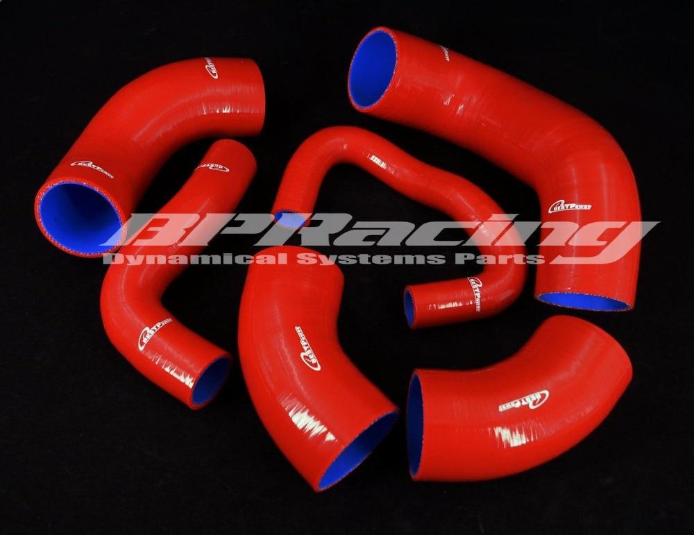 Silicone Intercooler Hose / Pipe For Mitsubishi EVO7 8 9 CT9A Red  Mitsubishi Lancer Evolution