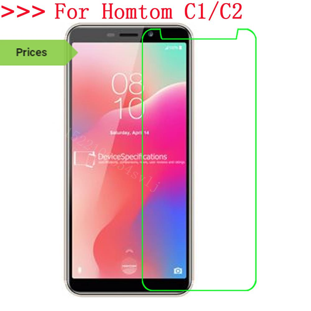 Homtom C1 Tempered Glass 9H 2.5D Premium Screen Protector Film For Homtom C2 Mobile Phone Protective Films Case Q
