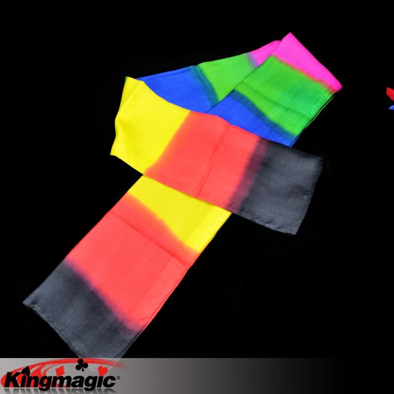 Черный Радужный шарф король Волшебные трюки игрушки-реквизиты электронная почта видео вам