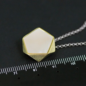 Image 5 - Lotus Fun Real 925 Sterling Silver North European Style Geometric Angles Design Fine Jewelry Pendant without Necklace for Women