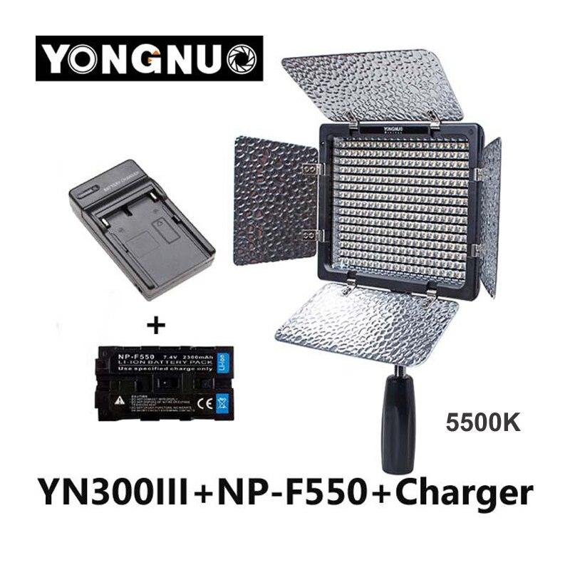 bilder für Yongnuo yn300 iii yn-300 iii 5500 karat cri95 kamera foto led-videoleuchte mit 2300 mah np-f550 akku mit ladegerät set