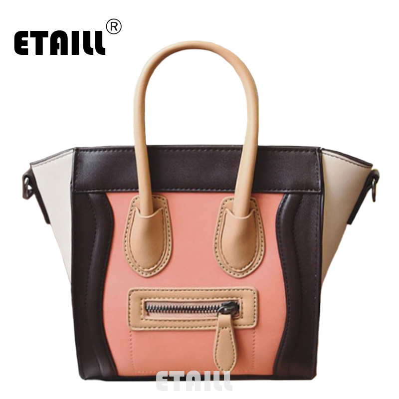 ETAILL High Quality Ladies Trapeze Bag Fashion Women Shoulder Bag Female PU Leather Casual Shoulder Bag Brand Designer Handbag
