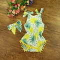 Summer Costume for Baby Girls Clothes Romper Fruit Pattern Kids Jumpsuit Infant Baby Clothes Boutique #P0518