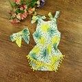 Traje para As Meninas Do Bebê Roupas de verão Romper Fruto Padrão Crianças Macacão Infantil Roupas de Bebê Boutique # P0518