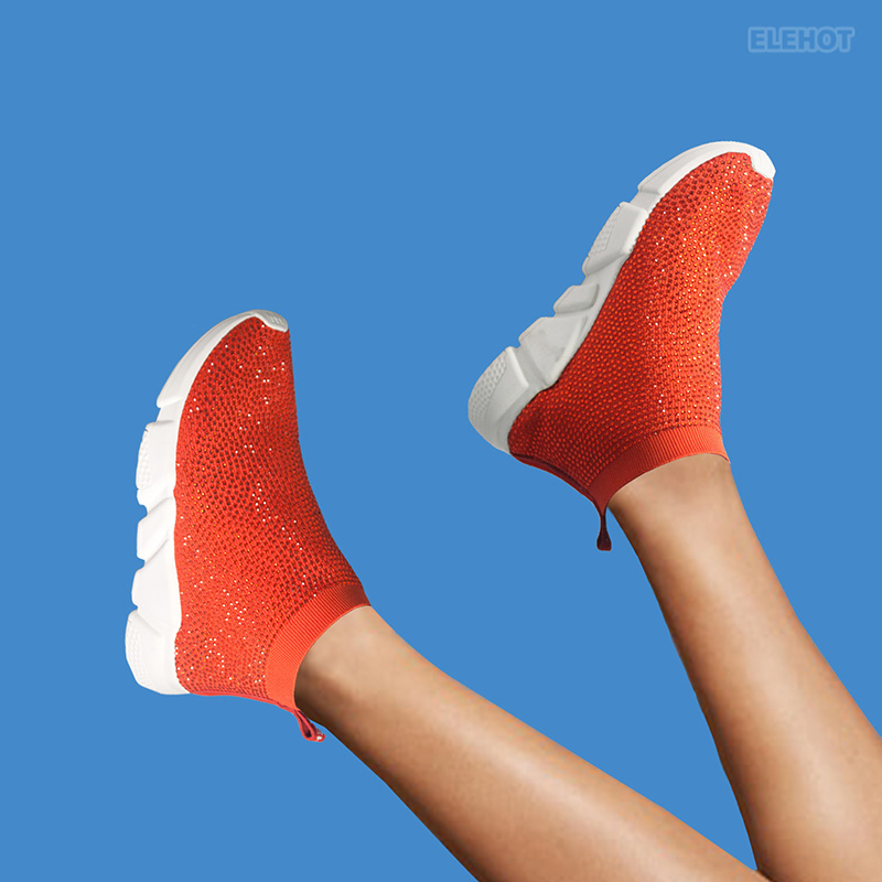 Elehot red Dress Shoes Sneakers