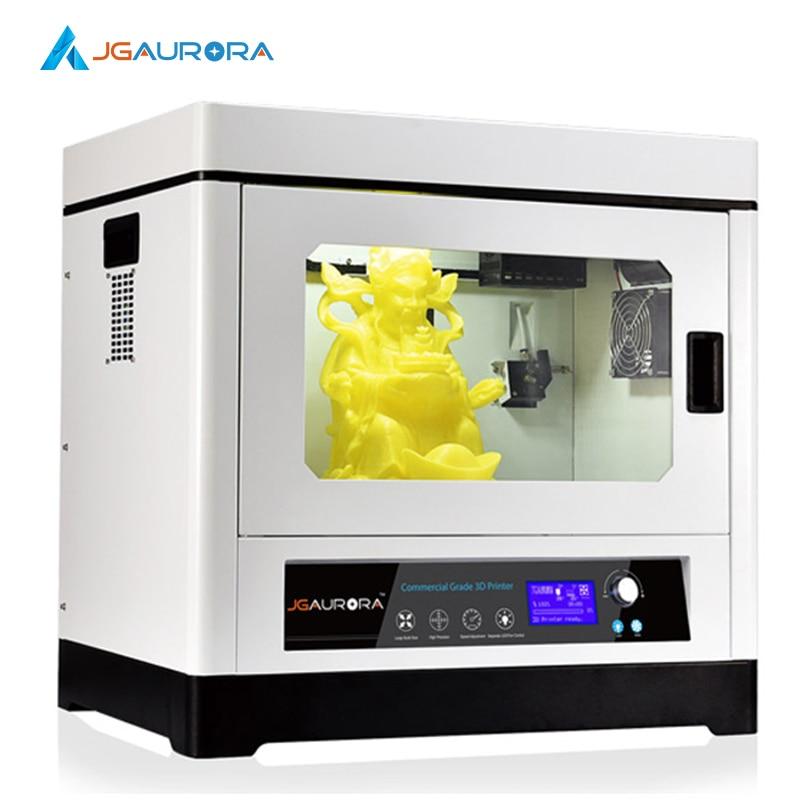 2SETS [JGAurora] A-8 3D Printer Closed Design Metal Frame Super Large!! Max 350*250*300mm(13.8*9.8*11.8in) Glass Hot Bed