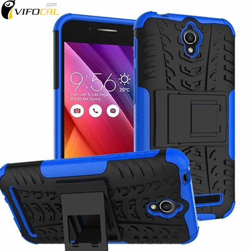 Teléfono móvil case + silicio armor kickstand tpu + pc dual antidetonantes prote